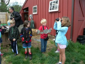 Jr. Birder studying a bird guide