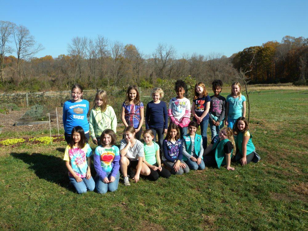 Girl Scouts at Rushton