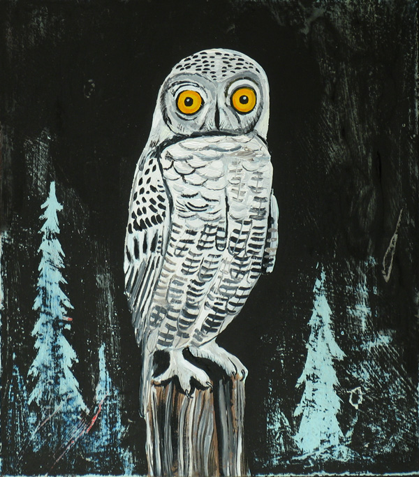 Snowy Owl painting by  Wesley Younie