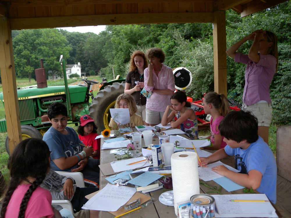 Young Birders sharing poetry (with Natalie and Cathy Staples).