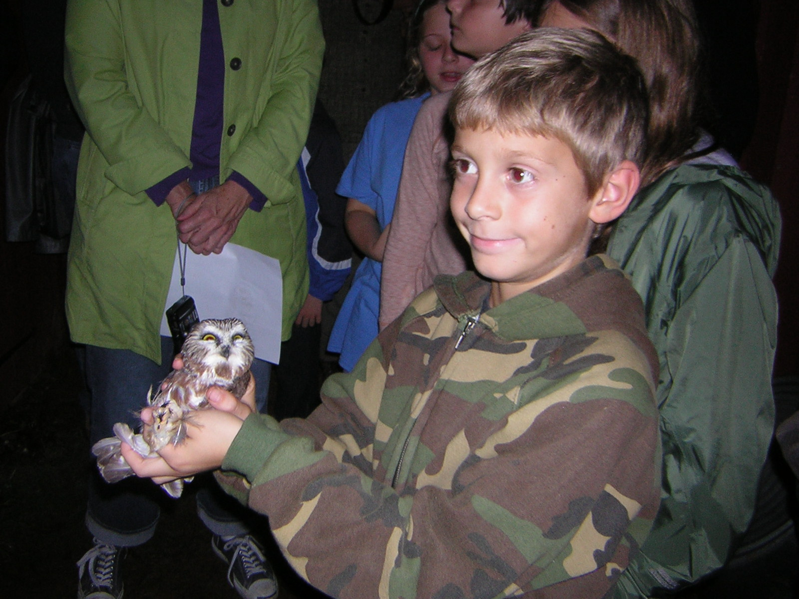 PA Young Birder releasing a Saw-whet Owl.
