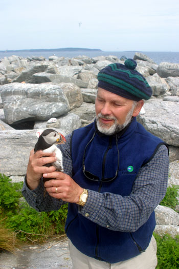 Steve Kress with Puffin.