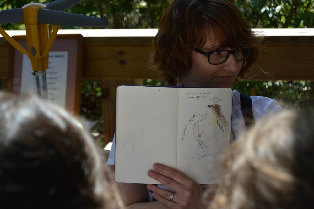 A professional children's book author visited us in May and took beautiful notes on what she learned. Check out here website here!