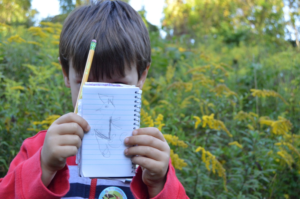 A Jr. Birder's notes from the Open House in September. Photo by Blake Goll